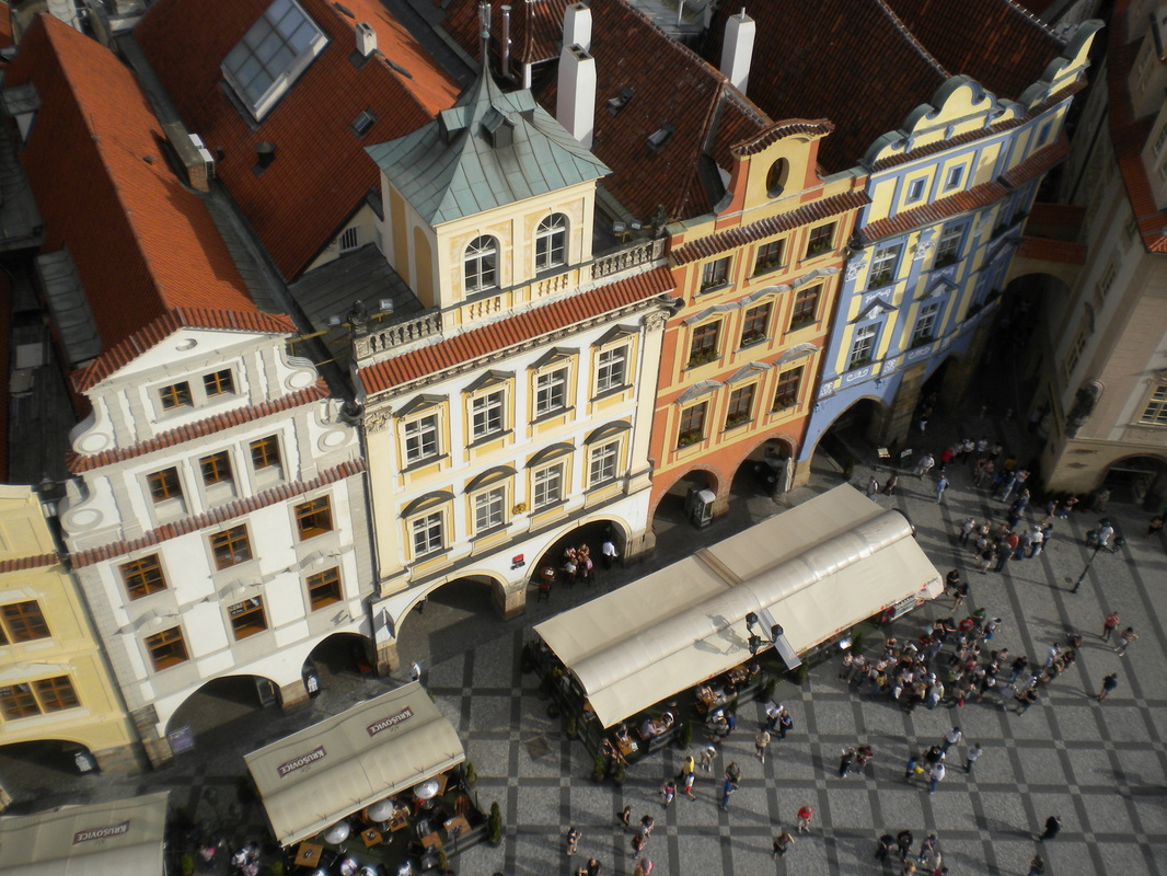 View from the Astronomical Clock tower in Prague